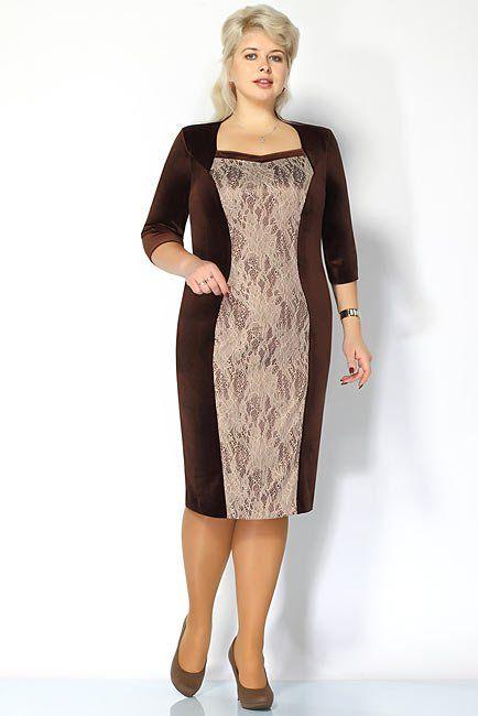 Платье из панбархата для полных