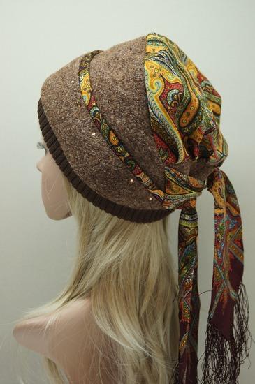 Как сделать платок на шапку 985