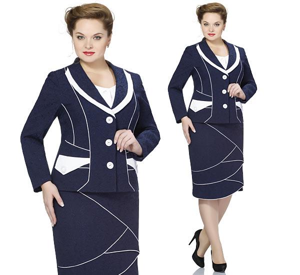 Деловая одежда для полных женщин, фото